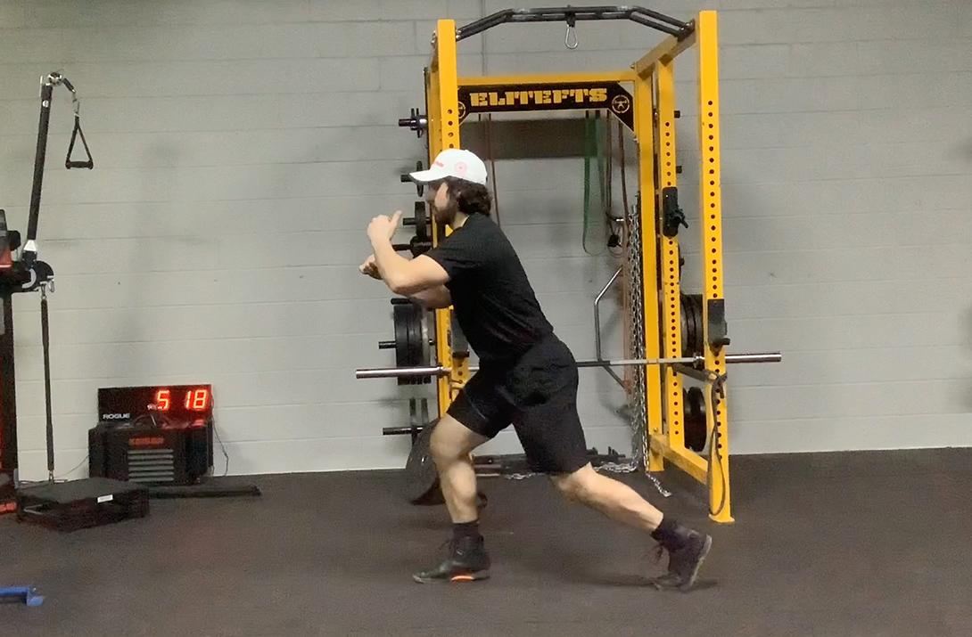 Split-Squat with Banded Adductor (Trail Foot)